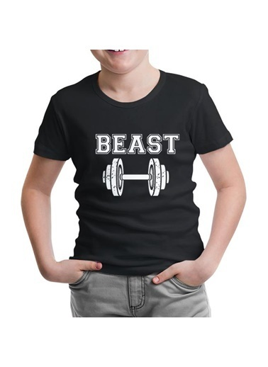 Lord Tshirt Beauty And The Beast - Beast Siyah Çocuk Tshirt Siyah